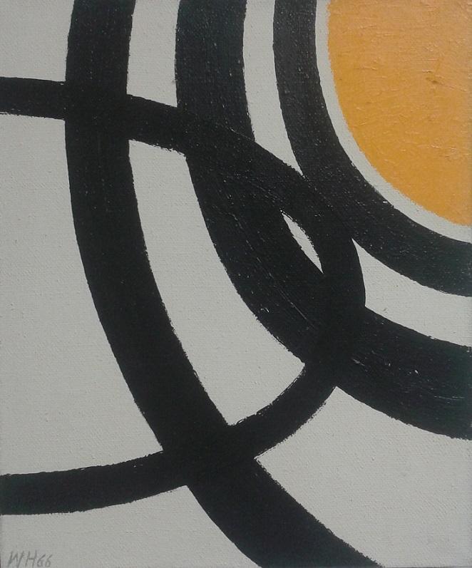 Zonder titel / Oranje bal op witte achtergrond