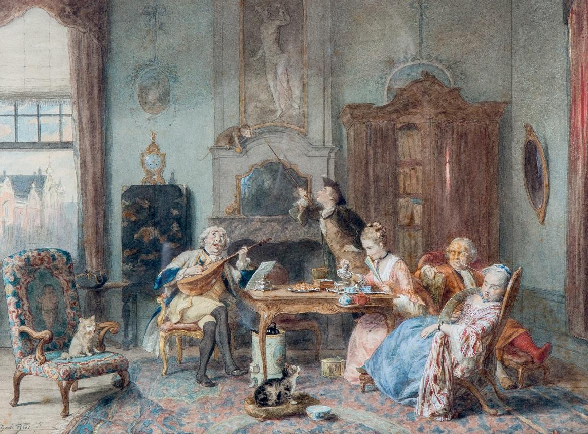 Interieur, de virtuoos /The virtuoso musiciansigned lower left