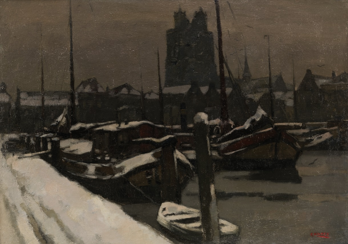 A view of Dordrecht in winter
