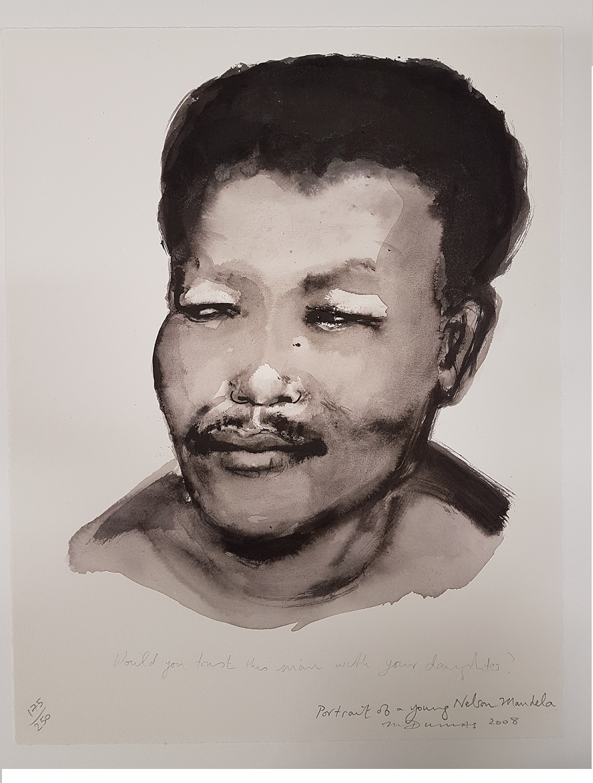 Portret van een jonge Nelson Madela / Portrait of a Young Nelson Mandela