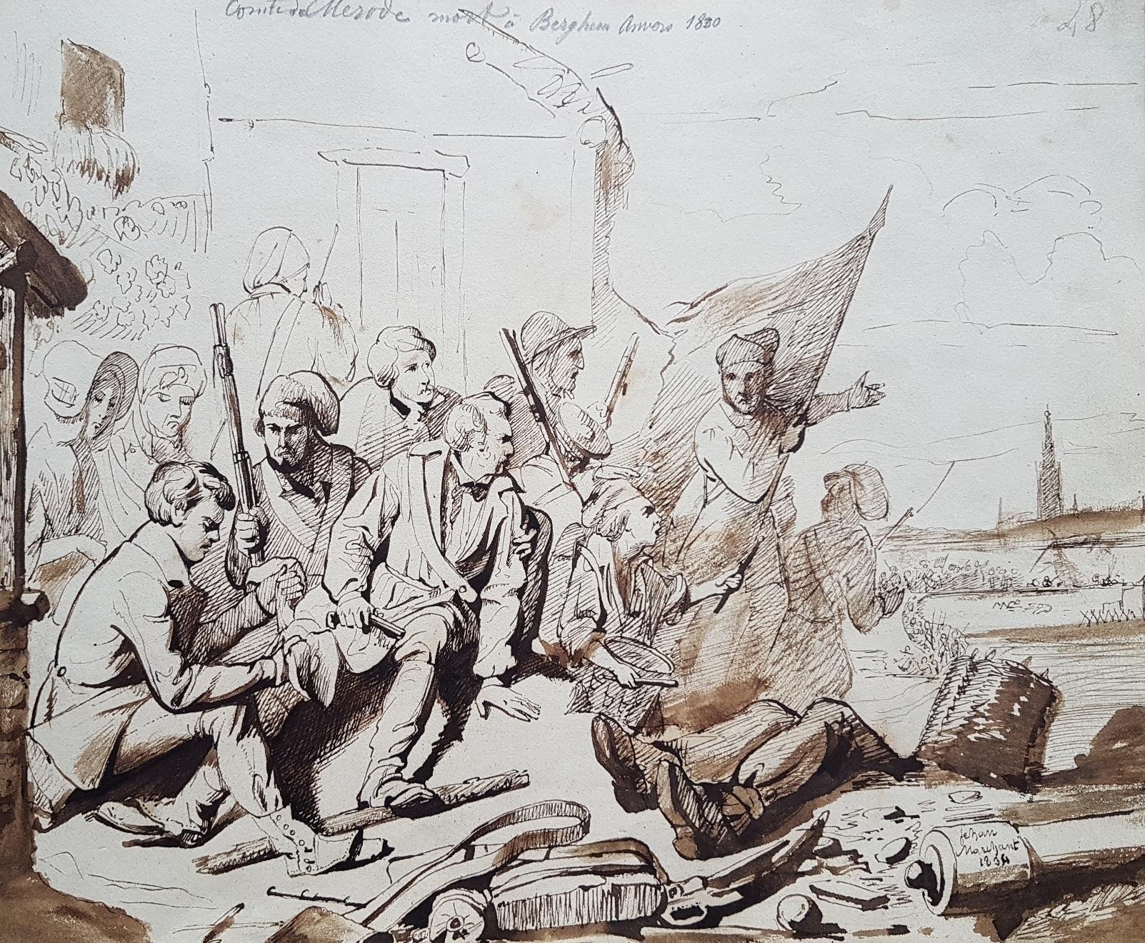 De slag bij Sint-Agatha-Berchem op 24 oktober 1830