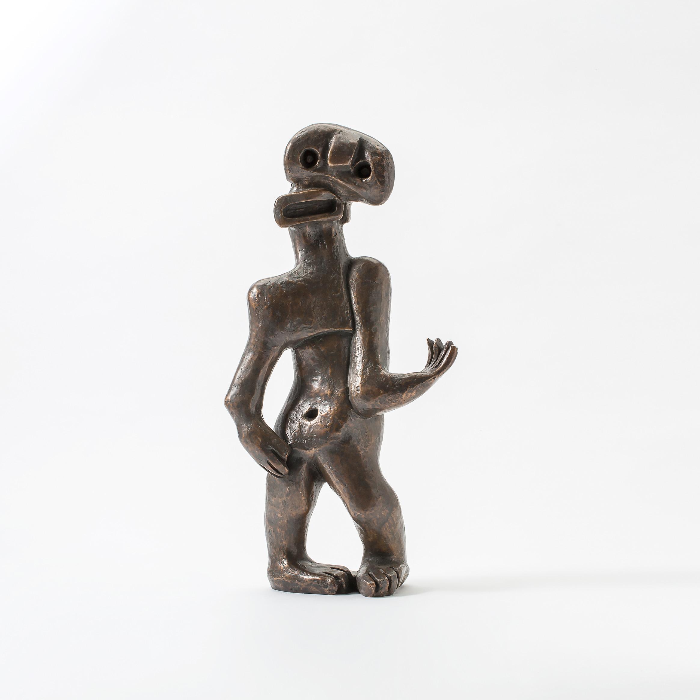 Hommage Henry Moore (L'homme avec laye bouche)