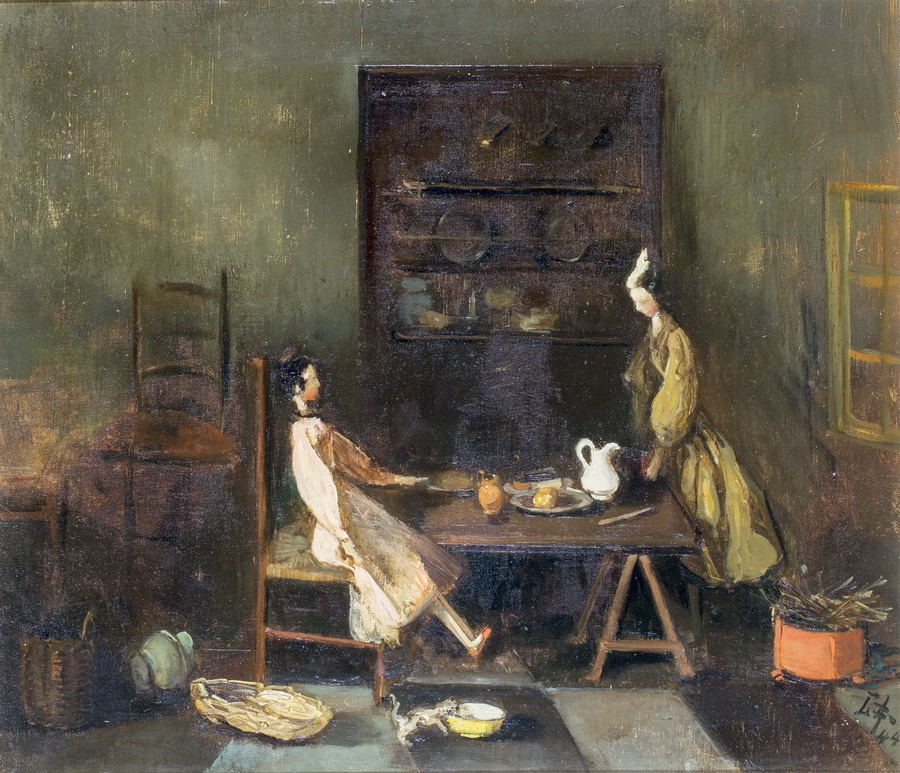 Lizzy Ansingh schilderijen met poppen / poppenhuis
