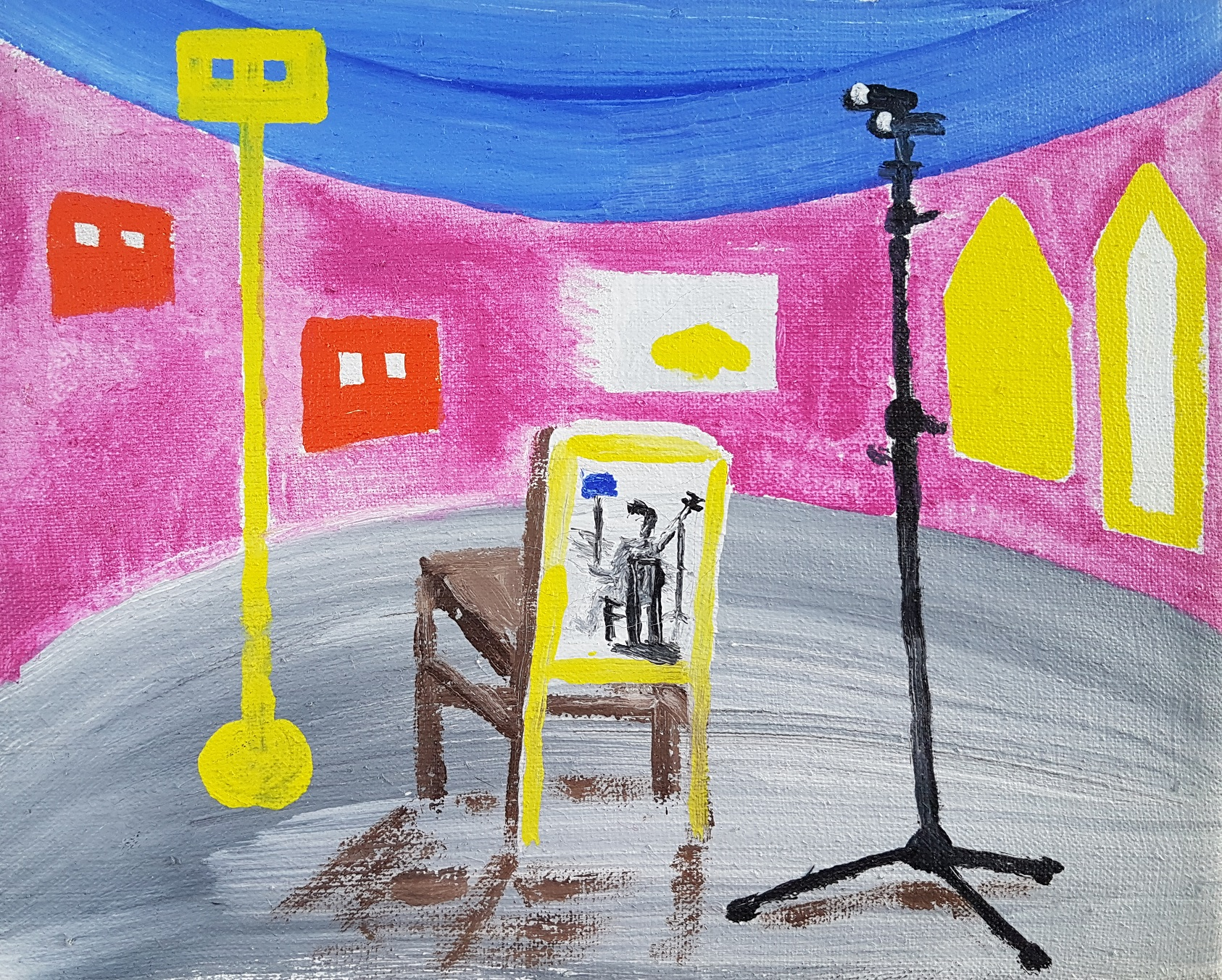 Instraling van het schilderij
