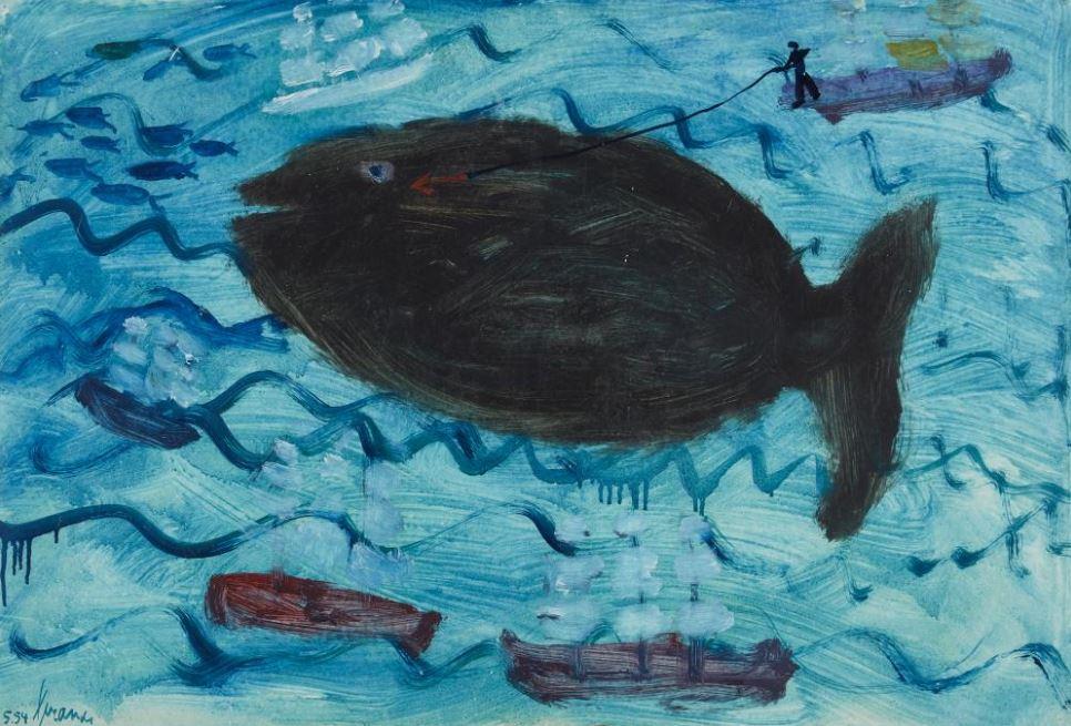 De walvisvaart (Whaling), 1954.