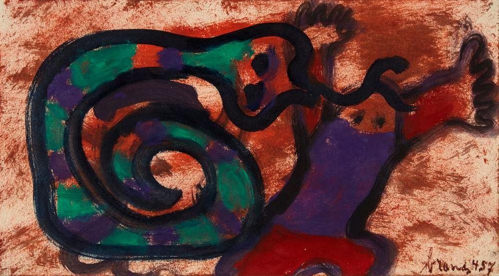 Attaquerende cobra (Attacking cobra), 1957