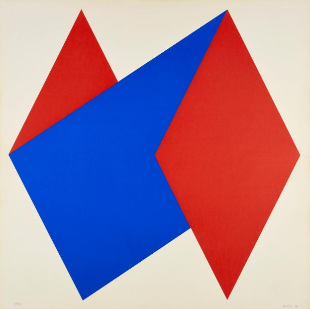 Composition in red and blue, 1969
