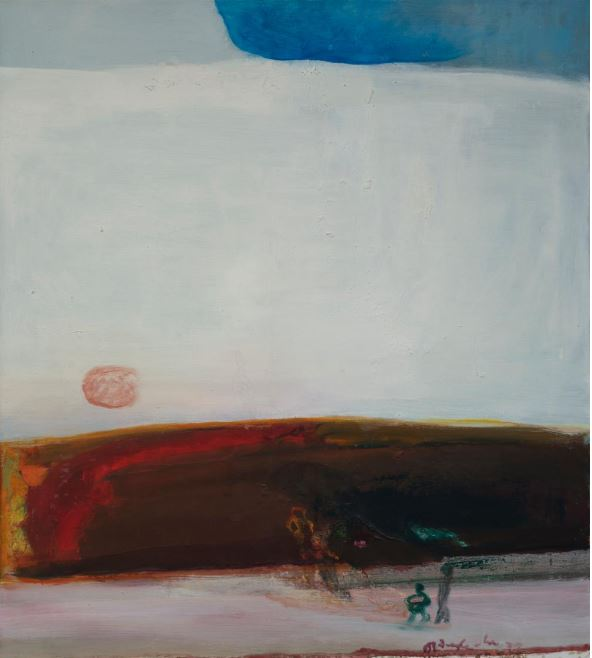 Landscape with figures at sunset, 1978.