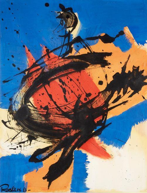 Kraaiende haan [Crowing rooster], 1963.