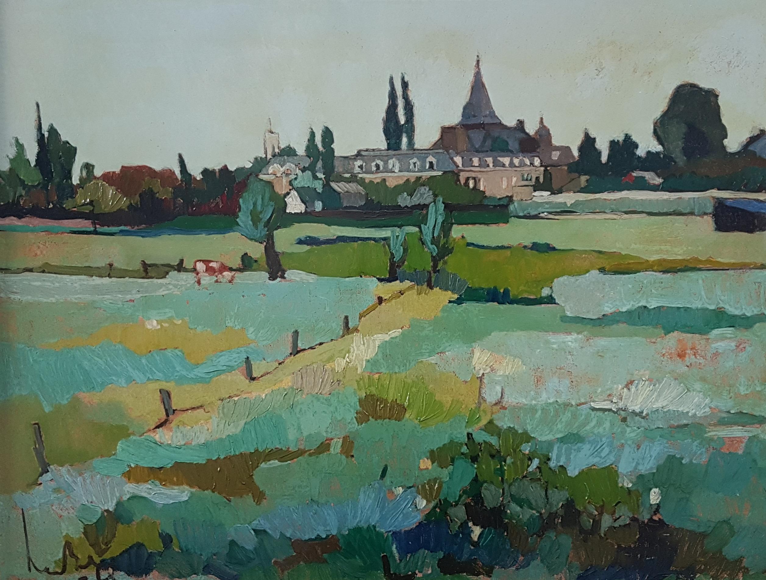 Gezicht op Esch, Noord-Brabant (1968)
