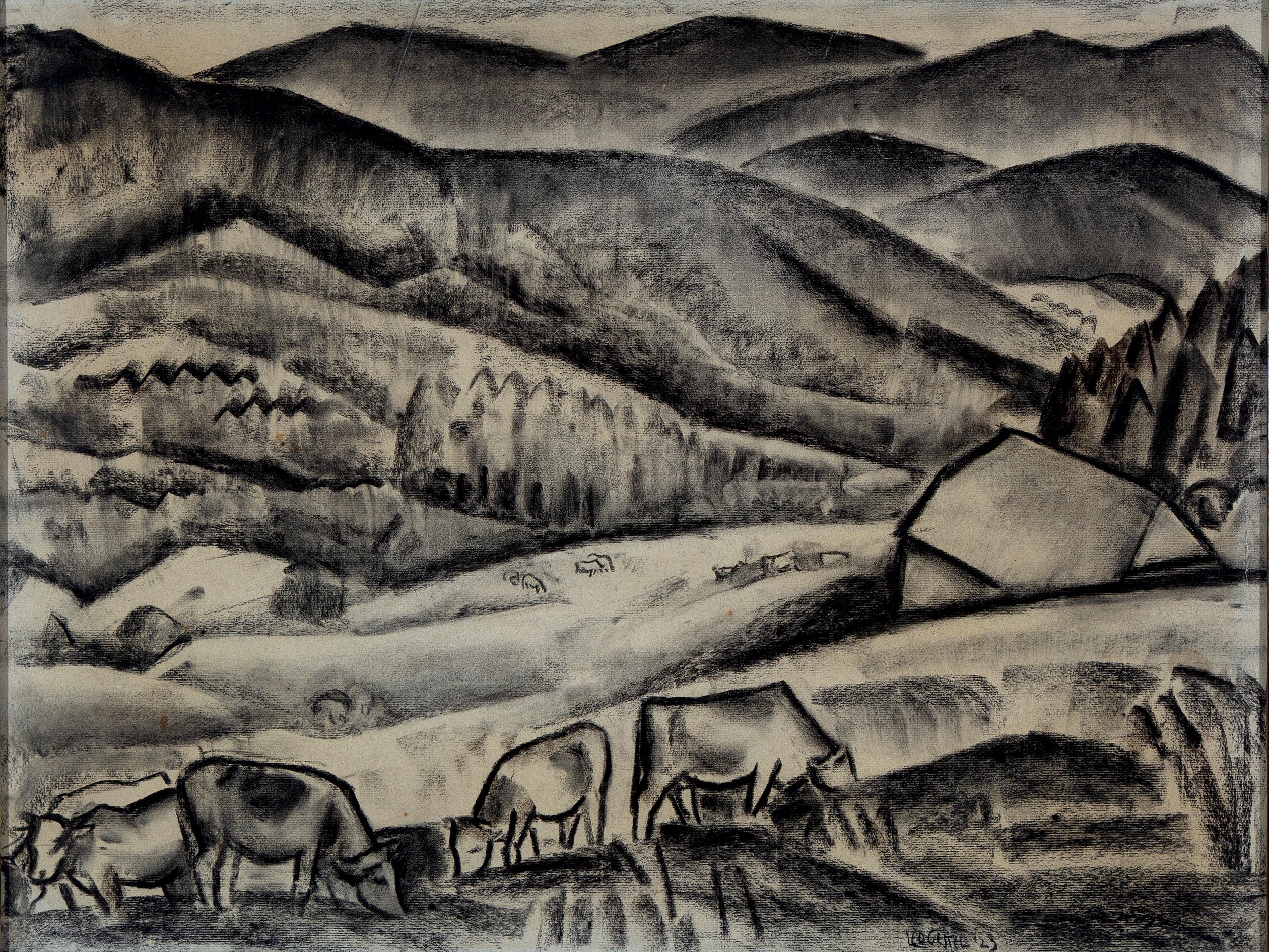 Cows grazing near Eisenstein