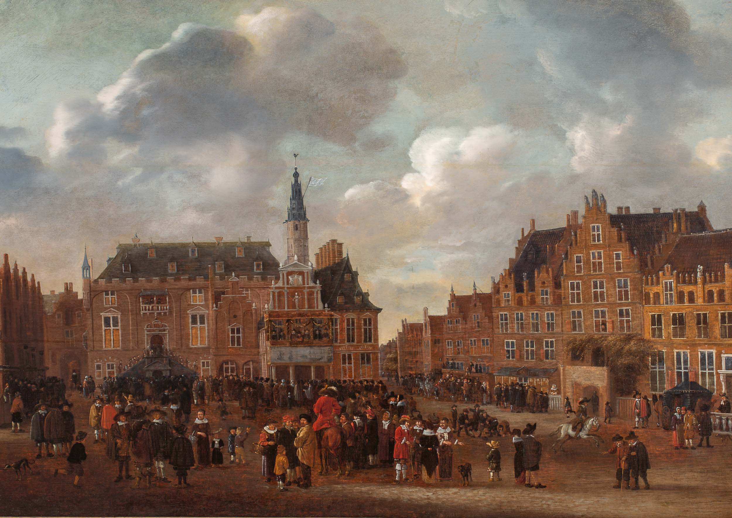 The Announcement of the Peace Treaty of Münster in 1648 from the balcony of the Town Hall of Haarlem