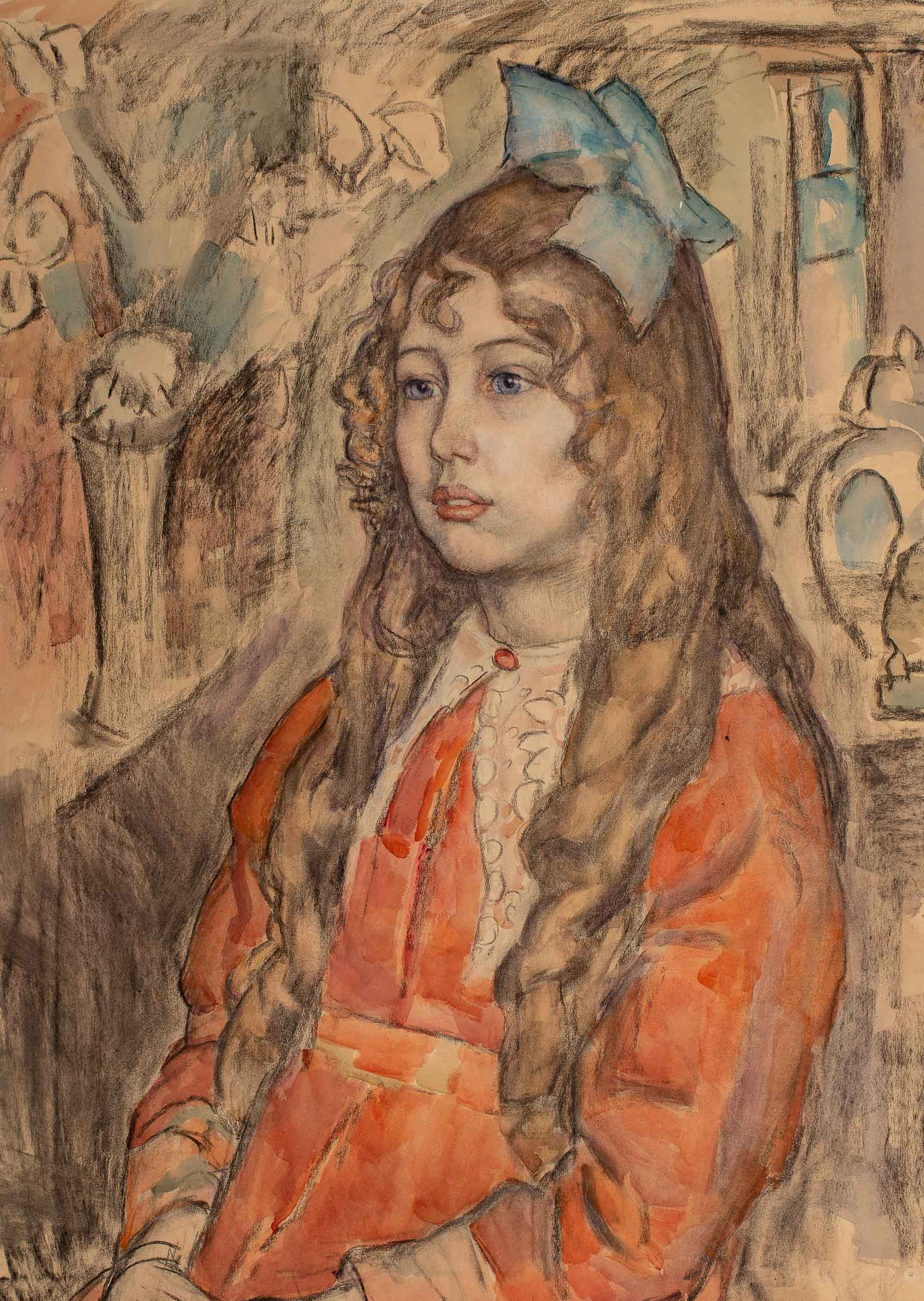 Portrait of a young girl (c. 1922)
