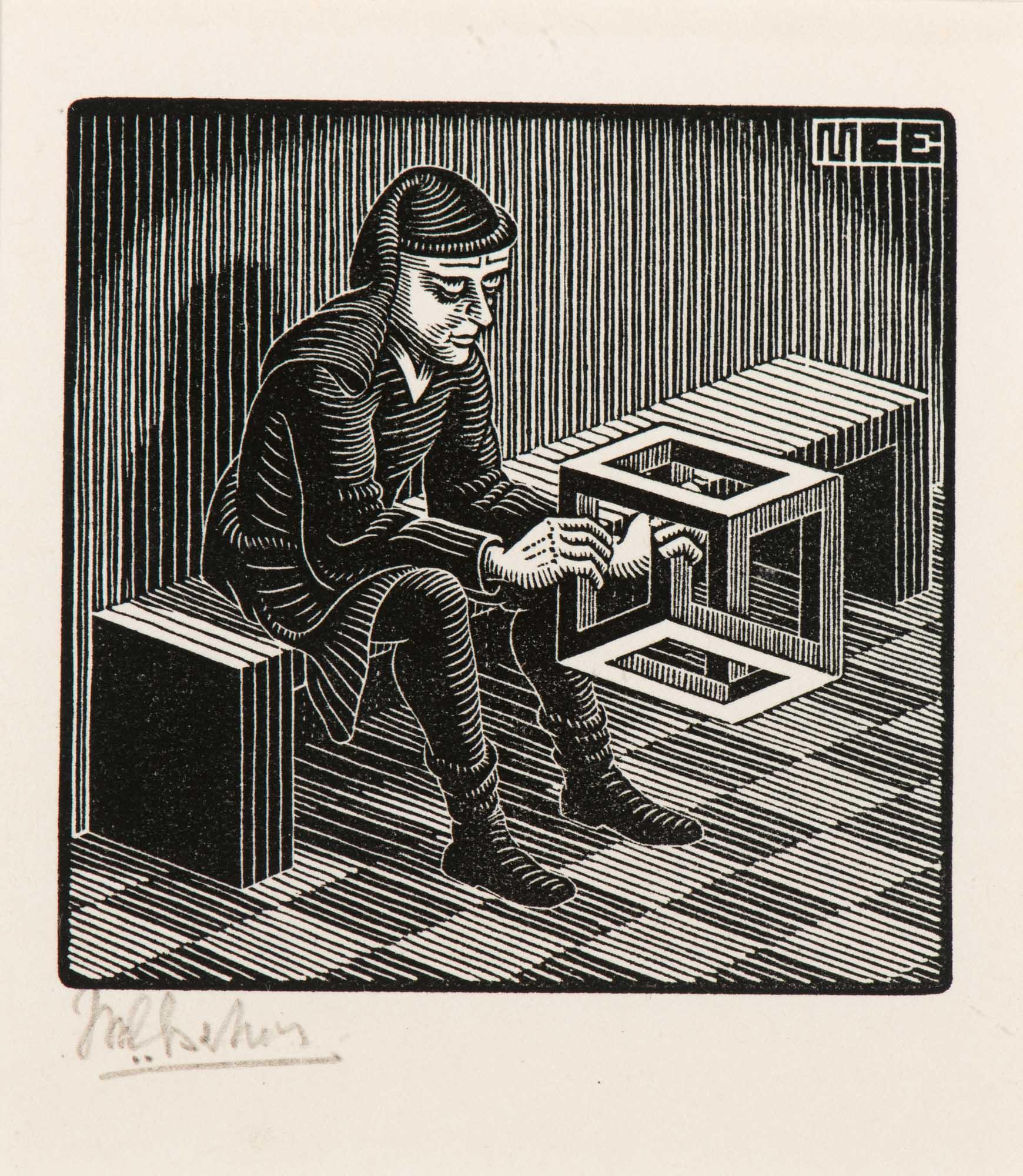 Man met kuboïde (Man with cuboid) (1958)