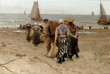 Schilderij of aquarel gevraagd Bernard Blommers (1845-1914)