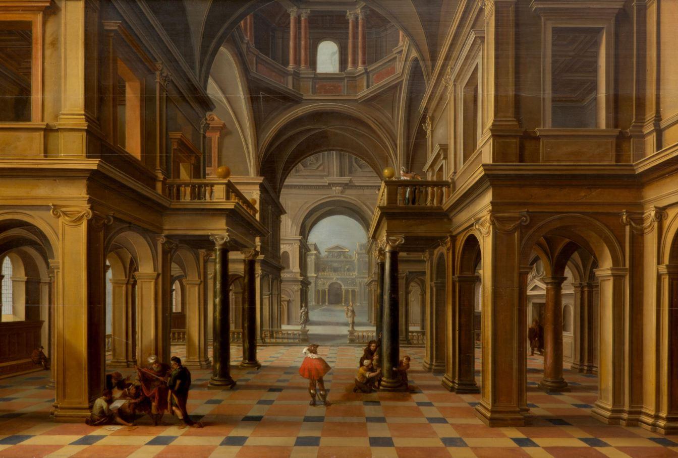A Renaissance Church Interior Bassen Bartholomeus Van Metzemakers Kunstmakelaardij