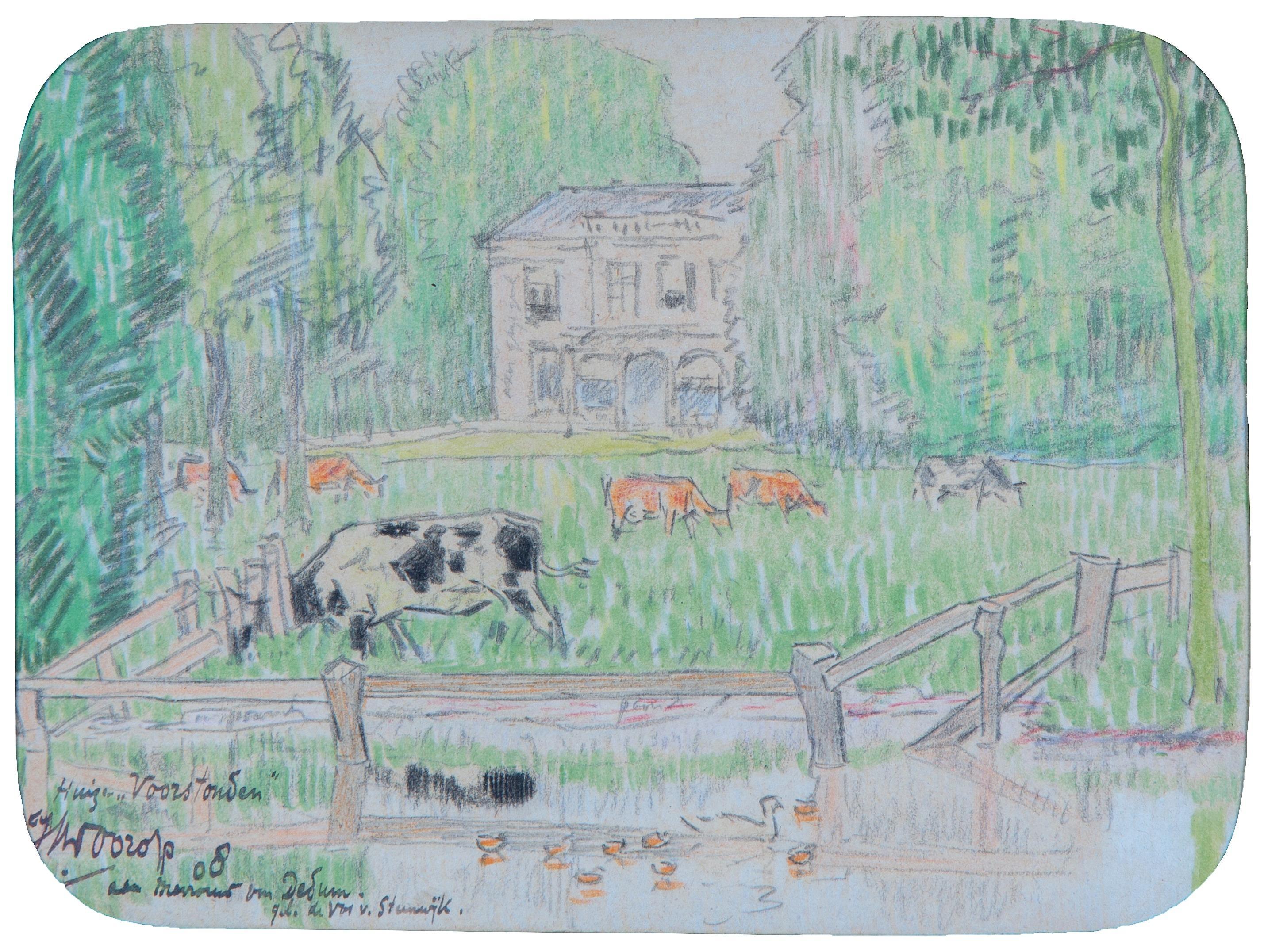 Huize Voorstonden / Cows grazing near Huis Voorstonden, Brummen