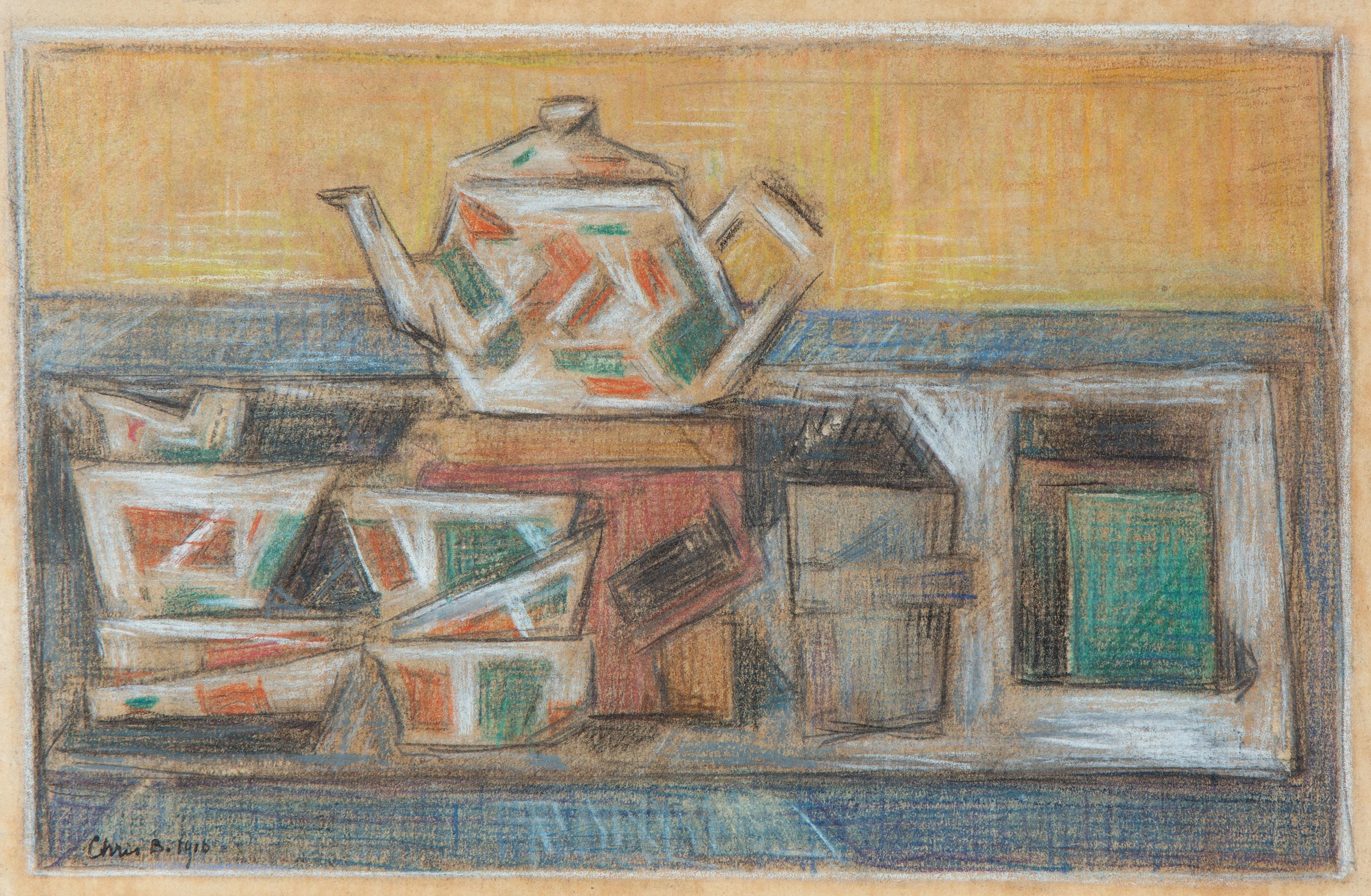 A still life with a tea set