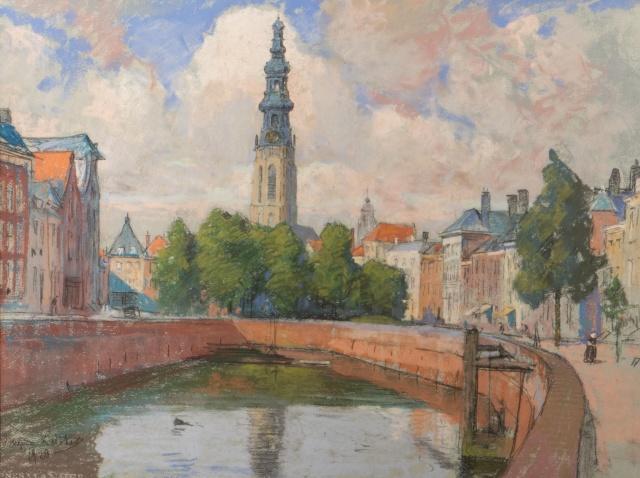 Gezicht op de Dam, Middelburg