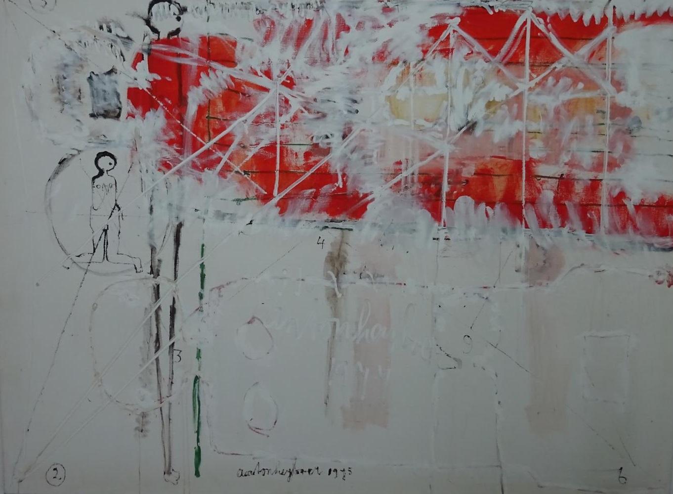 Kneeling abstract figure