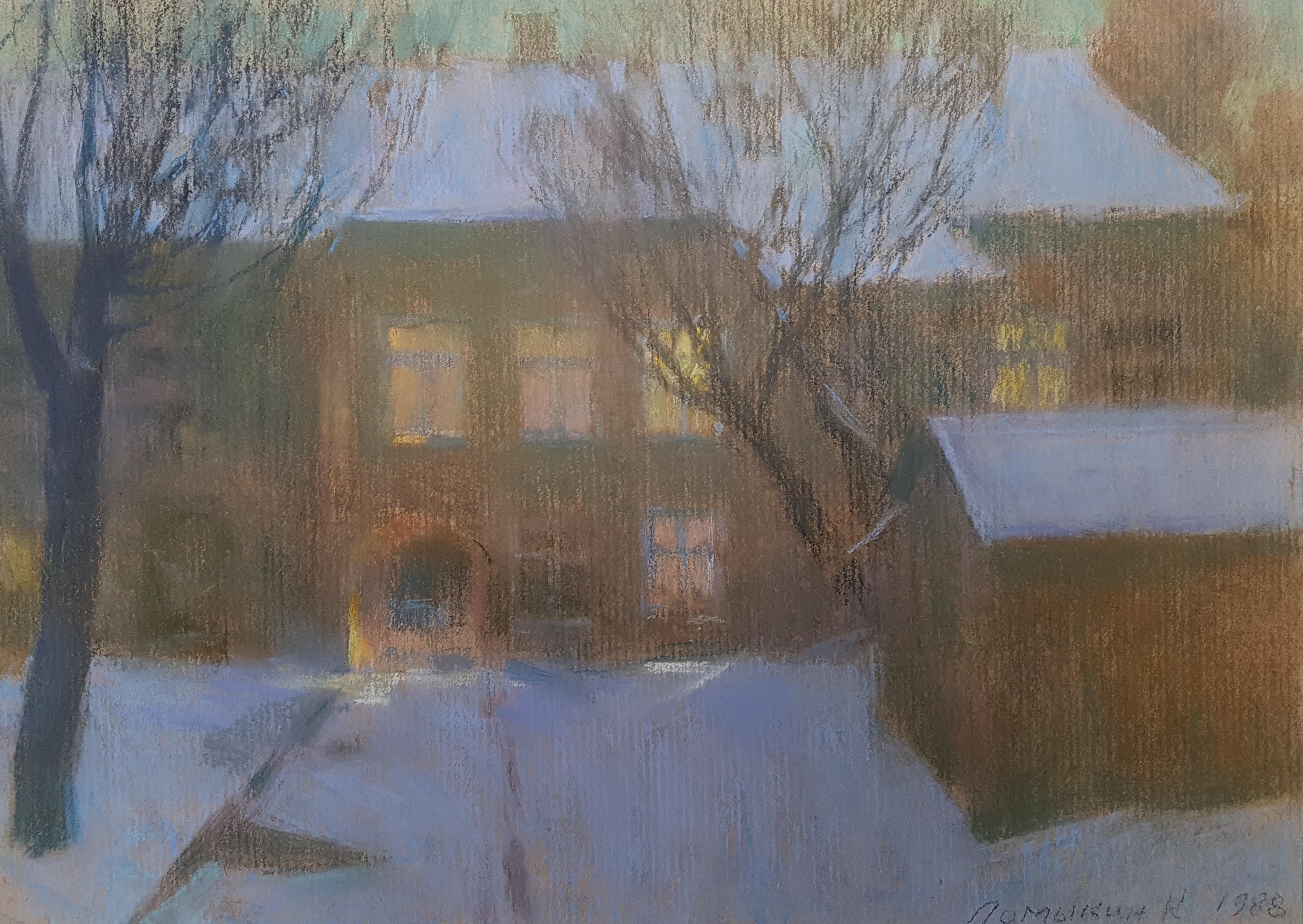 Besneeuwd landhuis in Odessa