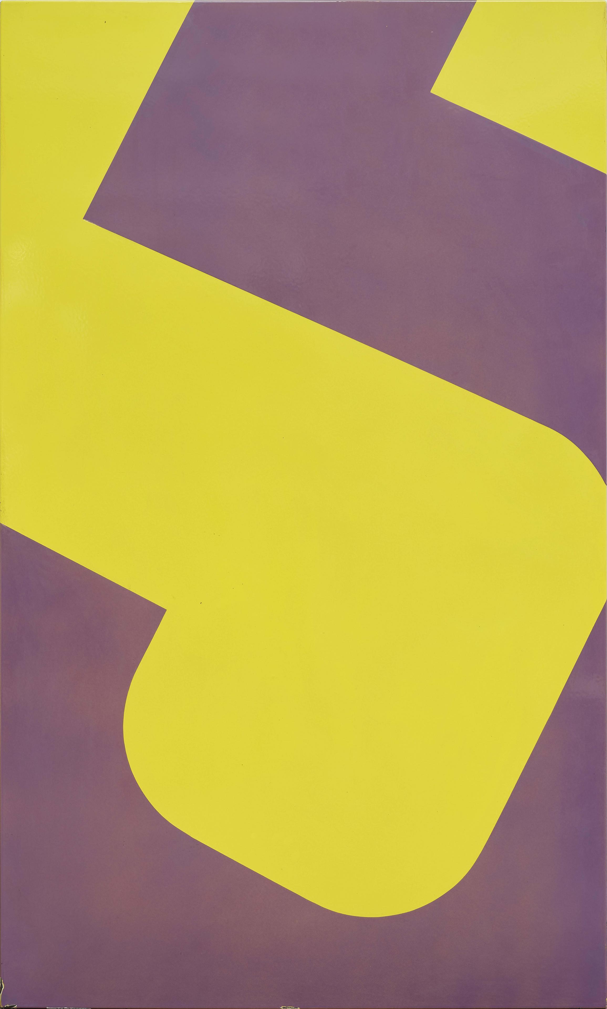 Aubergine/Yellow/Diagonal/Five