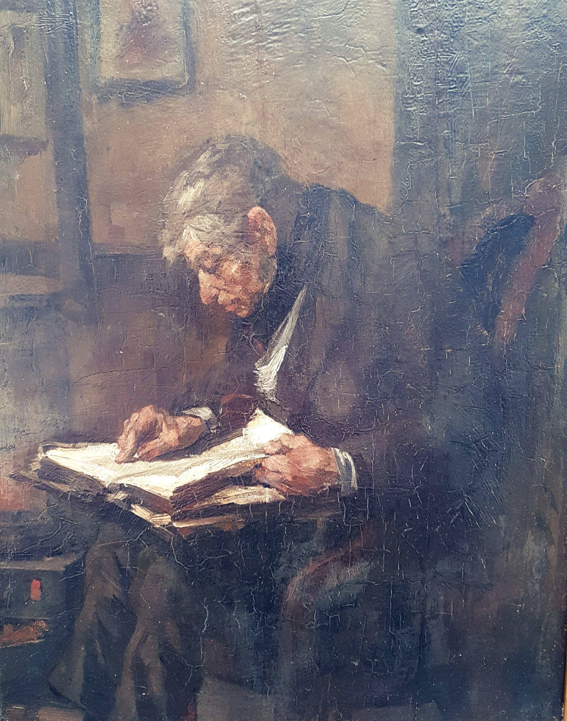 Bijbel lezende man