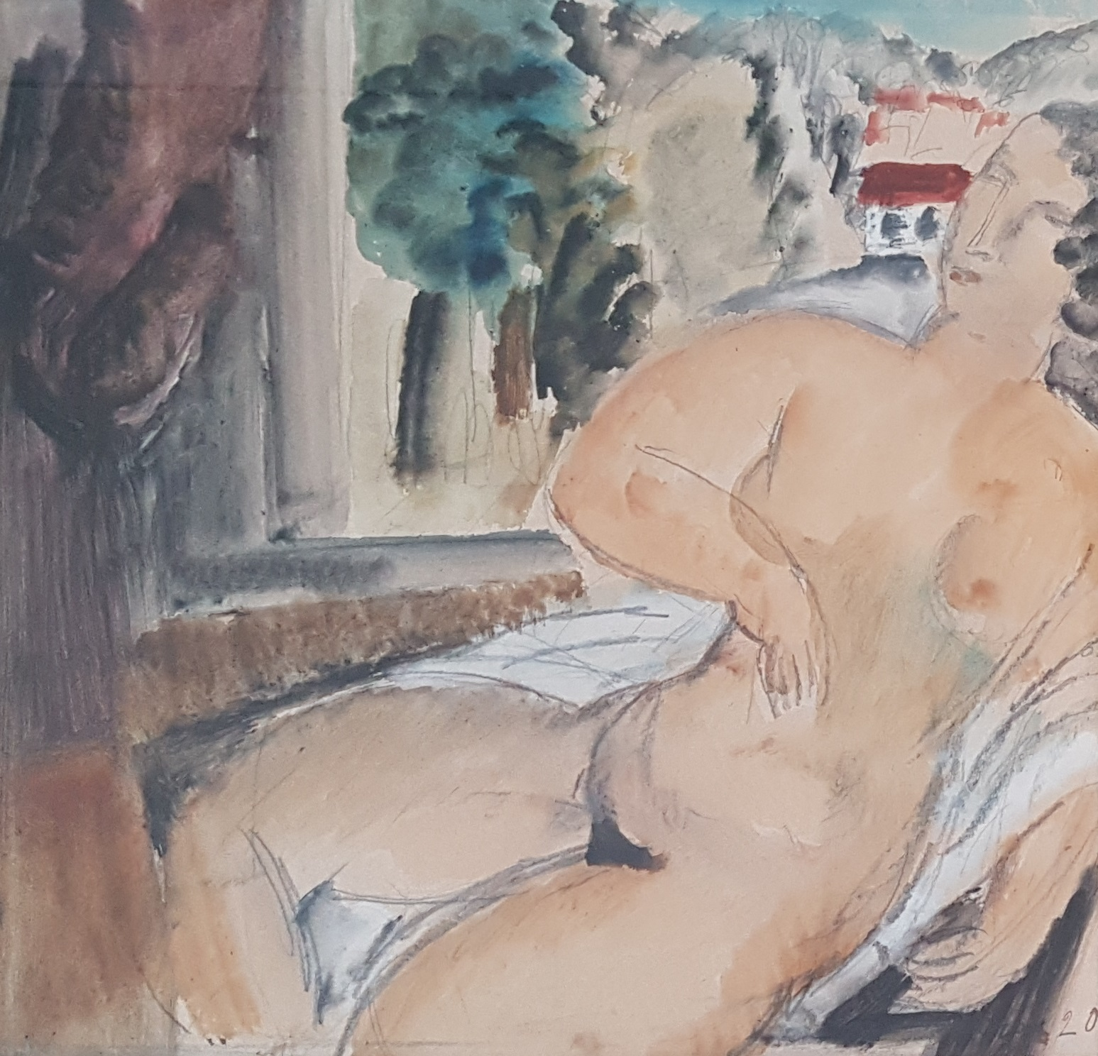 Naakt bij het venster  – Femme nu pres d'une fenetre, 1920.