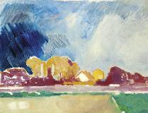 Landschap Met Paarse Lucht, 1974