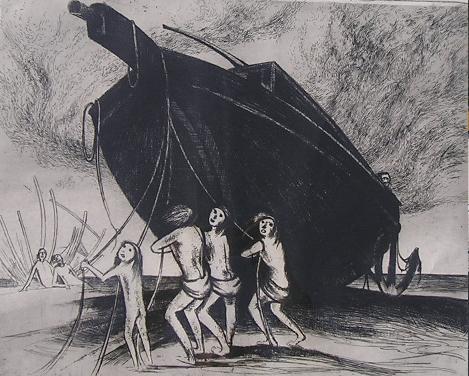 Werkend Aan De Boot Van Noach