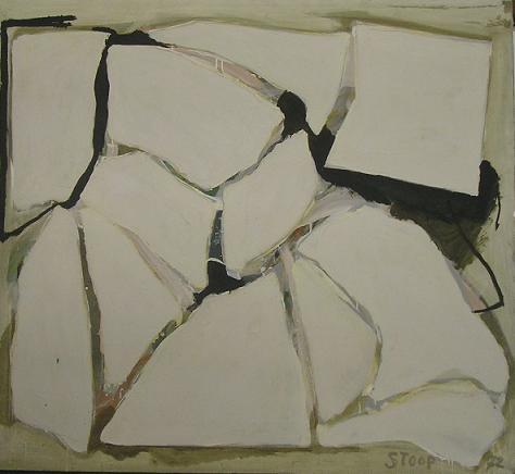 Compositie Met Witte Vlakken