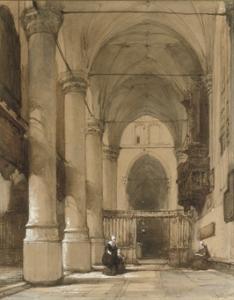 Kerkinterieur van J. Bosboom Te Koop Gevraagd