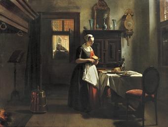 An Amsterdam orphan girl preparing supper