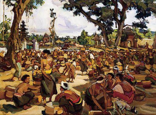 Gevraagd Indonesische kunst: Emile Rizek 1901- 1988
