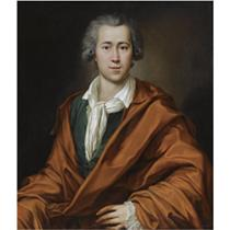 PORTRAIT OF JOHANN MELCHIOR VON BIRCKENSTOCK (1738-1809), SEATED HALF-LENGTH, WEARING A GREEN JACKET WITH A WHITE CHEMISE AND A RED COAT