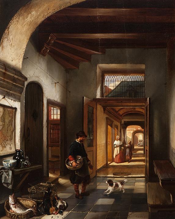 Doorkijk in een 17e eeuws huis