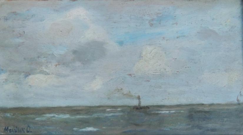 Stoomschip op zee