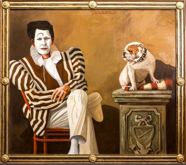 Pierrot met hondje