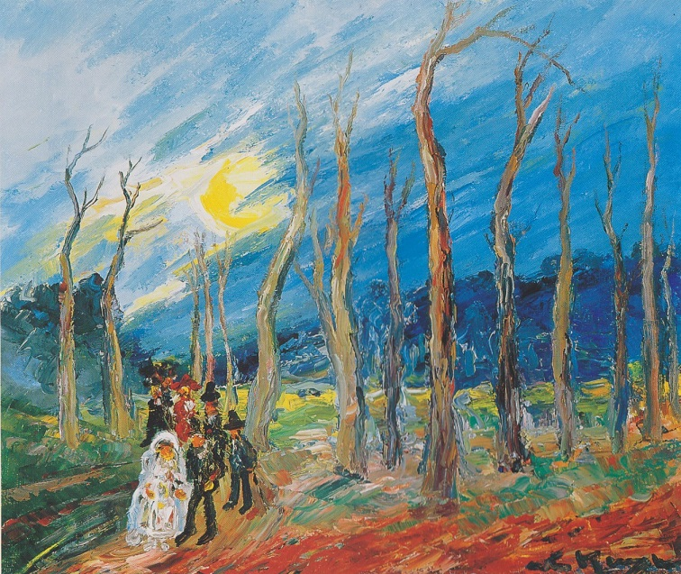 bruidsstoet in bos