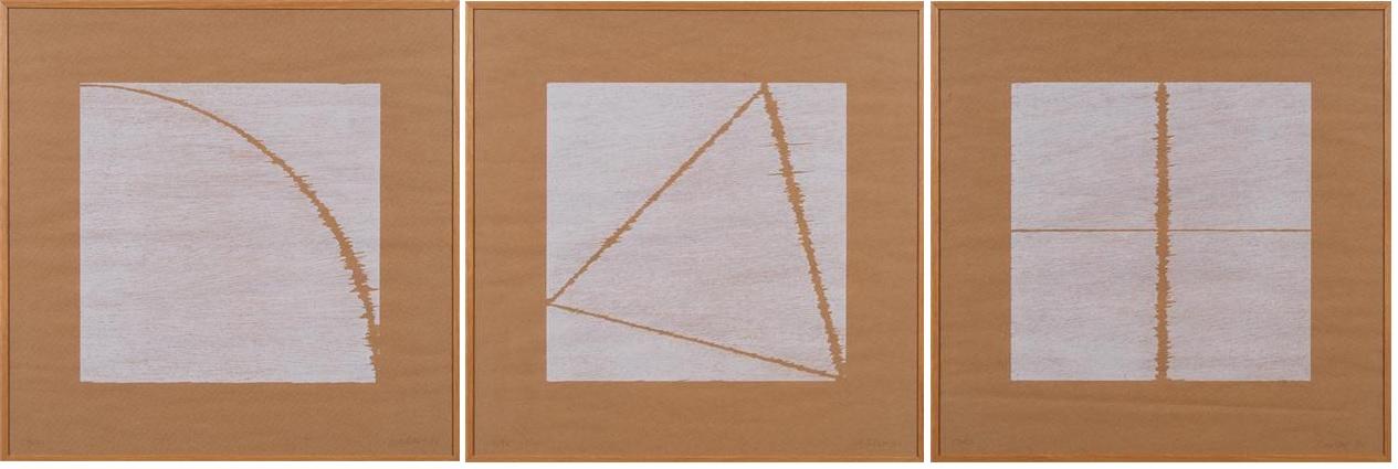 Abstracte compositie, drieluik