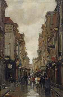 A view of the Spuistraat, The Hague