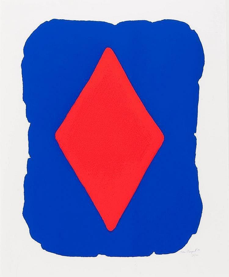 Blauw rechthoek met ruit