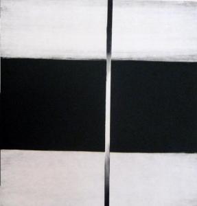 Zwarte horizontaal met zwarte verticaal.